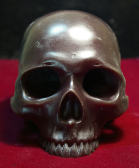 PROGRESS SEQUENCE-Large Skull | Kiln Cast Lead Crystal Skulls
